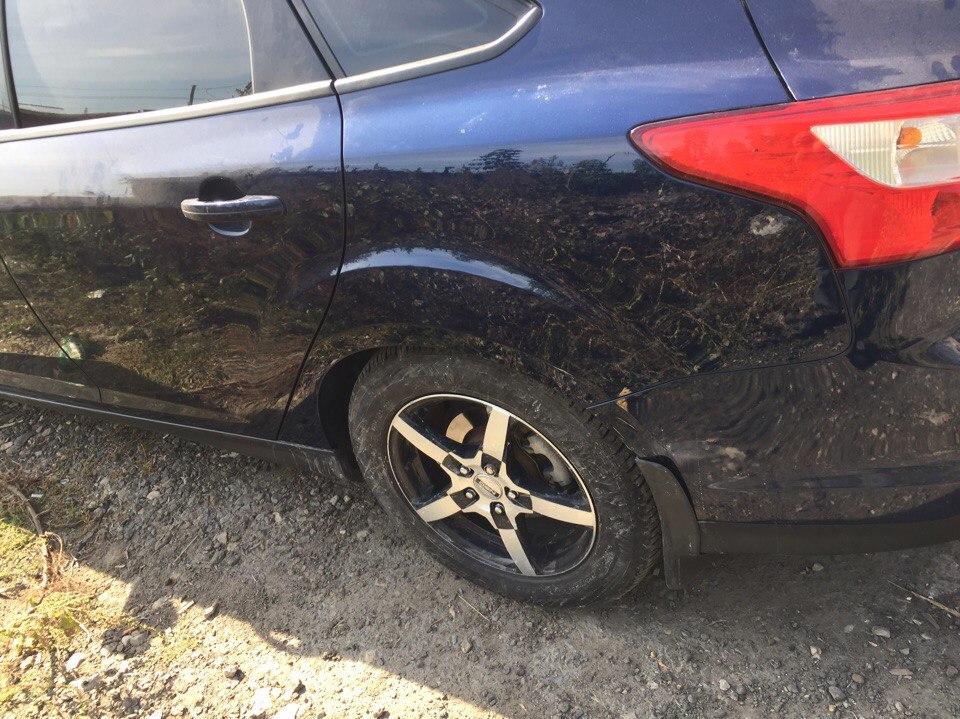 Ford Локальный ремонт заднего крыла - после