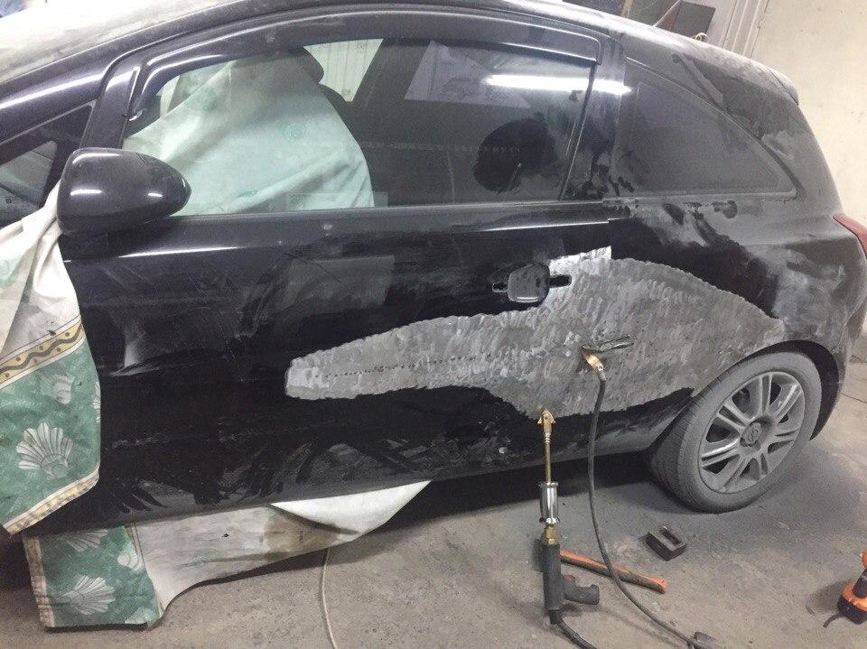 Opel Передняя дверь, заднее крыло - до