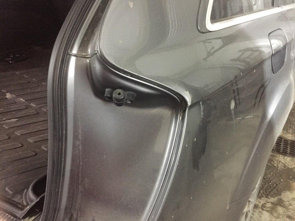 Ауди Ку 7/Audi Q7 - Ремонт и покраска боковины - до