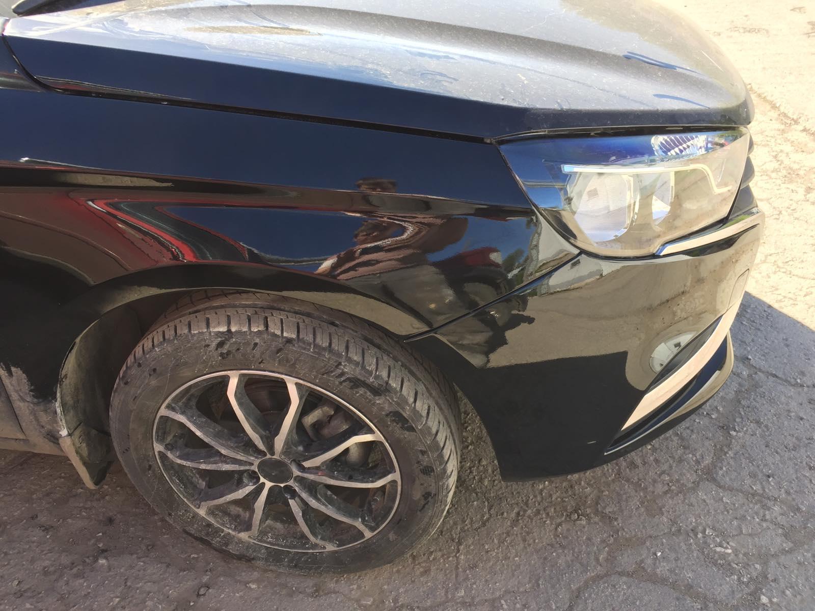 Лада Веста/Lada Vesta - Кузовной ремонт и локальная покраска двух элементов - после