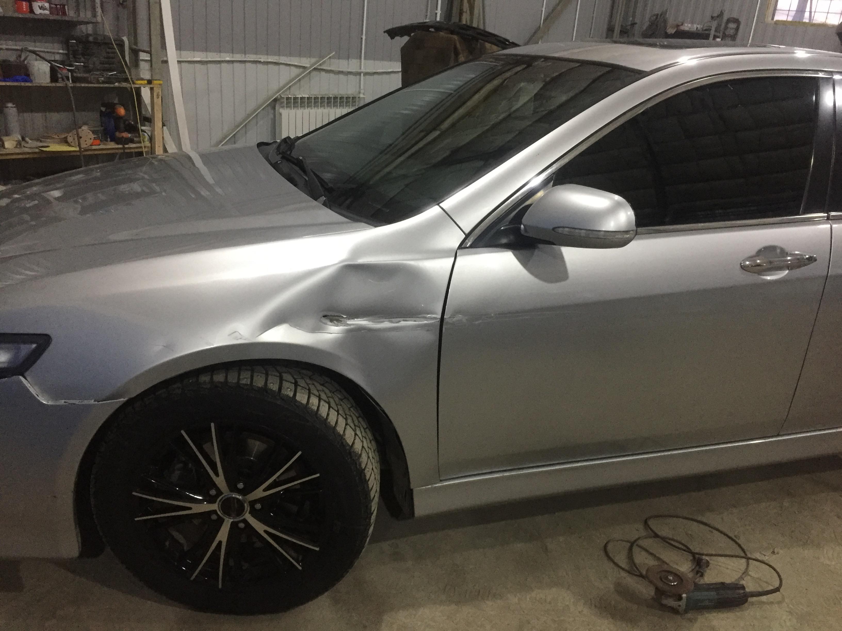 Ремонт и покраска Хонда - до