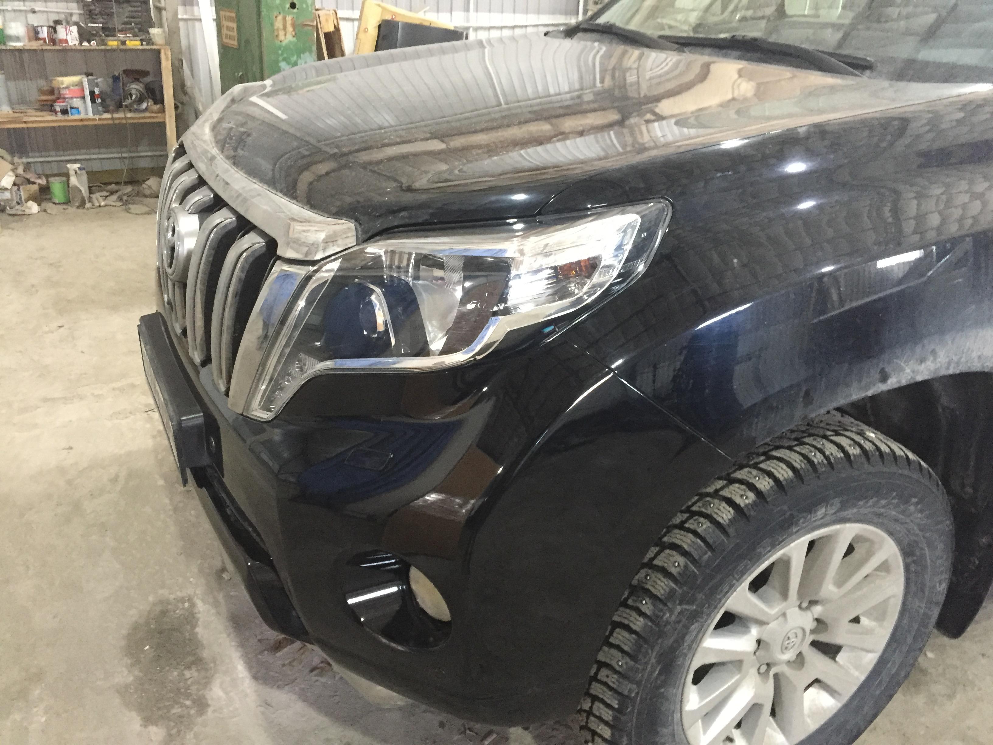 Тойота Лэнд Круизер 150/ Toyota LK150 ремонт переднего бампера и покраска - после