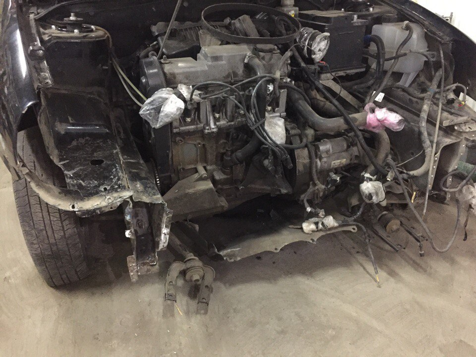 Ваз ремонт передней части авто - до